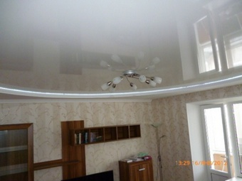 Сделанный нами натяжной потолок